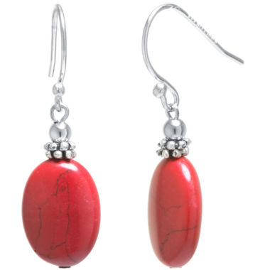 jcpenney.com | Silver Treasures Red Drop Earrings