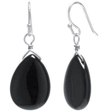 jcpenney.com | Silver Treasures Black Drop Earrings