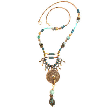 jcpenney.com | Aris by Treska Gold-Tone Beaded Pendant Necklace