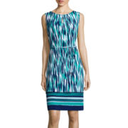 Liz Claiborne® Sleeveless Belted Shift Dress