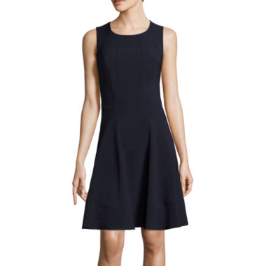jcpenney.com | Liz Claiborne® Sleeveless Side-Seam Fit-and-Flare Dress