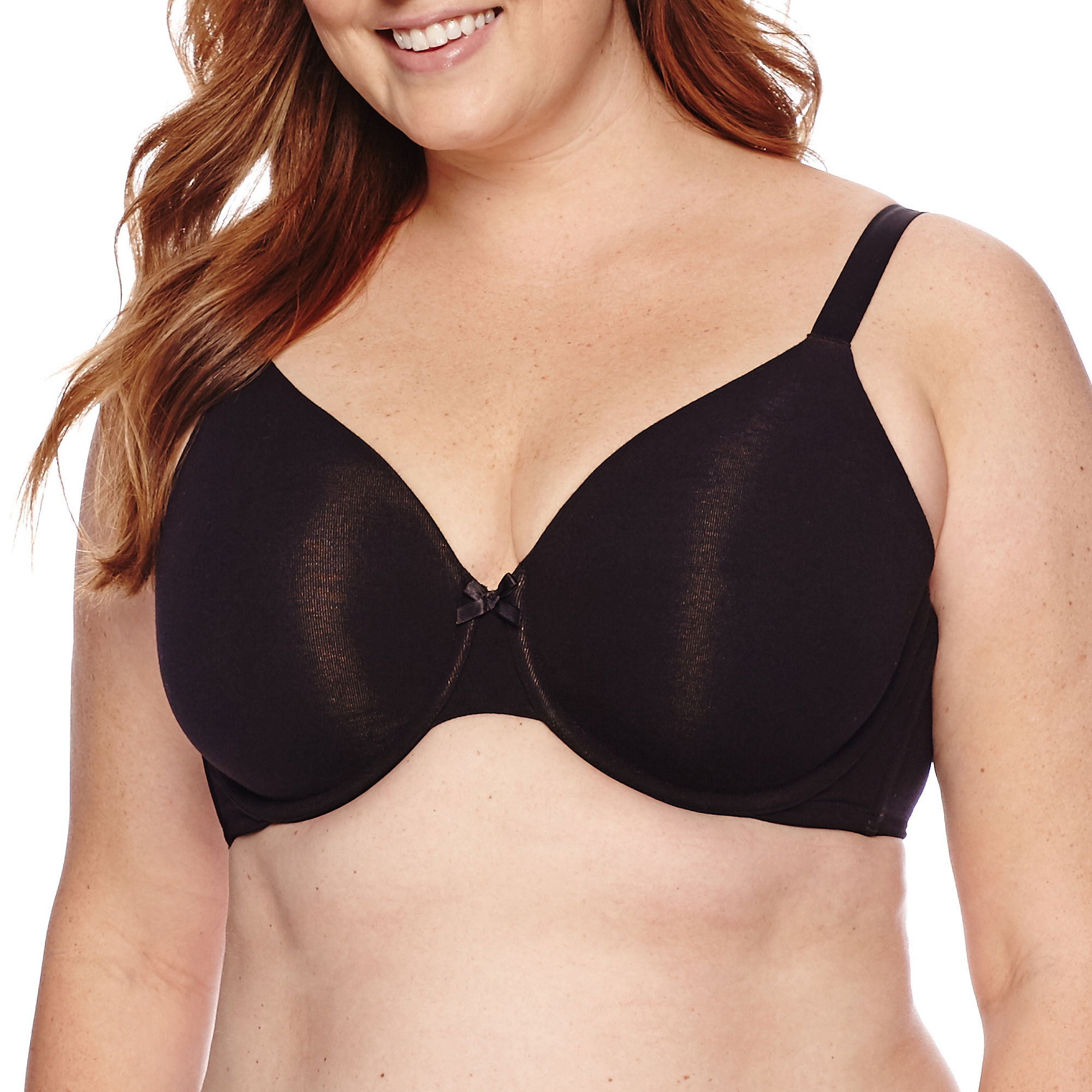 Ambrielle Everyday Full-Figure Cotton Full-Coverage Bra plus size,  plus size fashion plus size appare