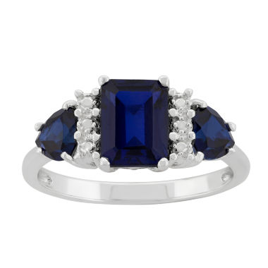 jcpenney.com | Lab-Created Sapphire Sterling Silver Ring