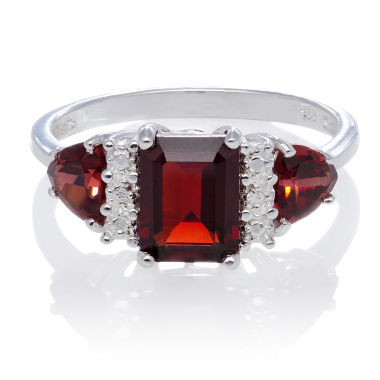 jcpenney.com | Genuine Garnet Sterling Silver Ring