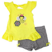 Nanette Baby Bumblebee Tee and Shorts Set - Toddler Girls 2t-4t