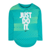 Nike® Long-Sleeve Geo Tee - Preschool Girls 4-6x