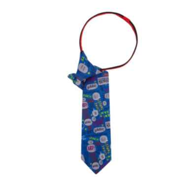 jcpenney.com | Peanuts Boys Talking Bubbles Zipper Tie - Boys