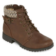 Arizona Lawton Girls Lace-Up Boots - Little Kids
