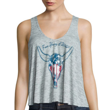 jcpenney.com | Sunset and Sixth Sleeveless Longhorn Tank Top