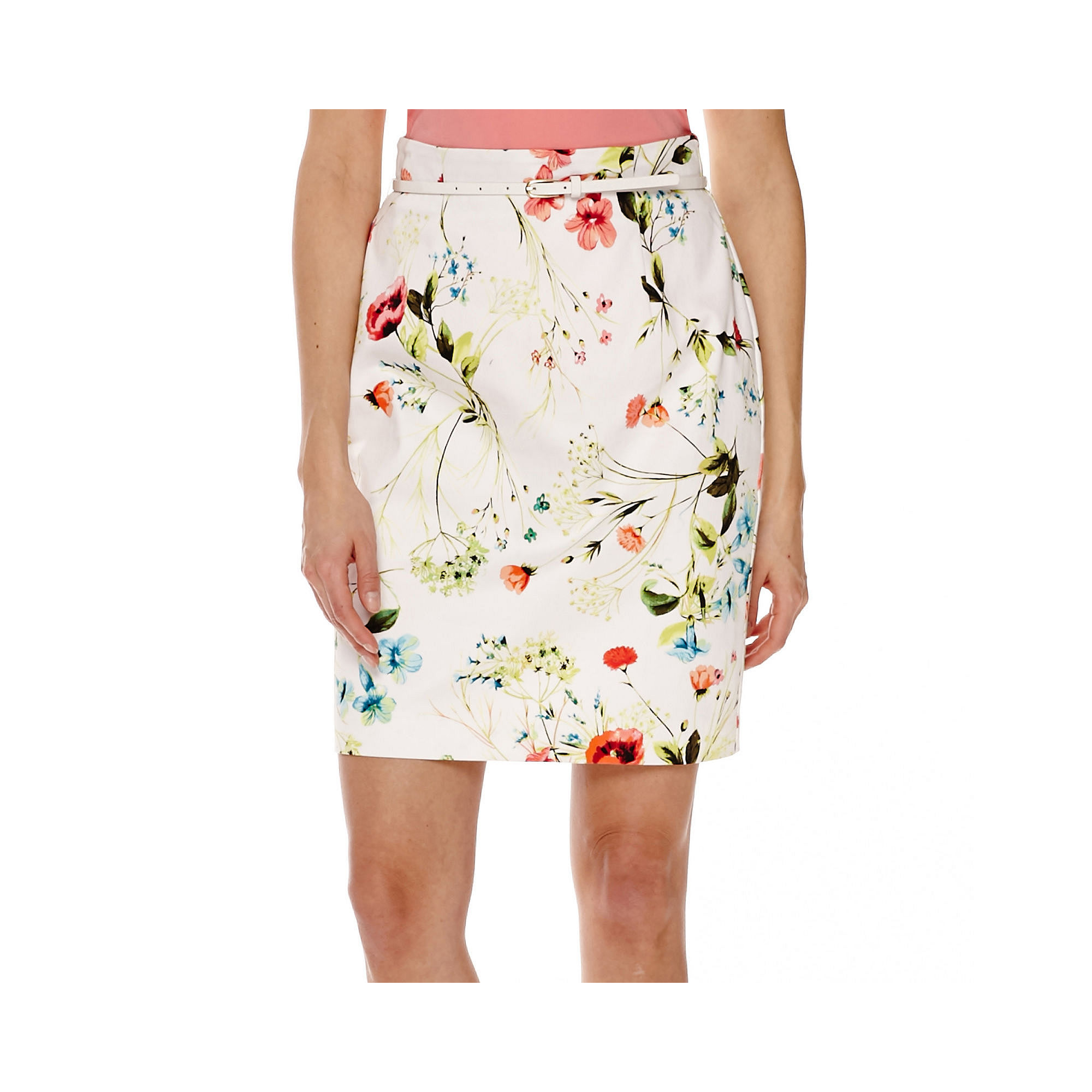Worthington Belted High-Waisted Pencil Skirt plus size,  plus size fashion plus size appare