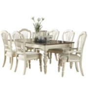 Tucker Hill Wheat Whitewash Pine 7-pc. Dining Set