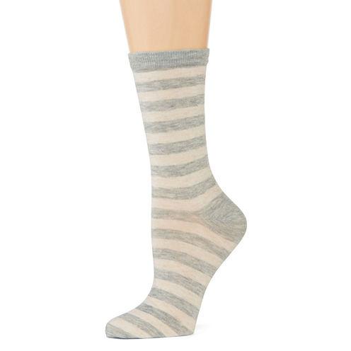 Mixit™ Womens Casual Crew Socks