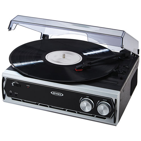 Jensen JTA-232 3-Speed Stereo Turntable with Built-in Speakers