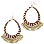 Decree® Gold-Tone Ribbon-Wrapped Hoop Earrings
