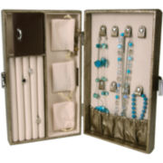 Mele & Co. Vivienne Faux Leather Contoured Jewelry Box