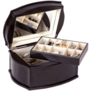Mele & Co. Jacquelyn Java-Finish Wooden Jewelry Box