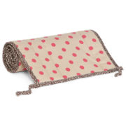 Cotton Tale Raspberry Dot Crib Rail Cover