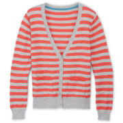 Arizona Striped Boyfriend Cardigan - Girls 6-16