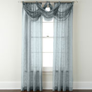 Royal Velvet® Bianca Embroidered Rod-Pocket Waterfall Valance