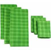 Plaid Set of 6 Kitchen Towels and Dish Cloths