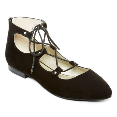 jcpenney.com | a.n.a® Ember Lace-Up Flats