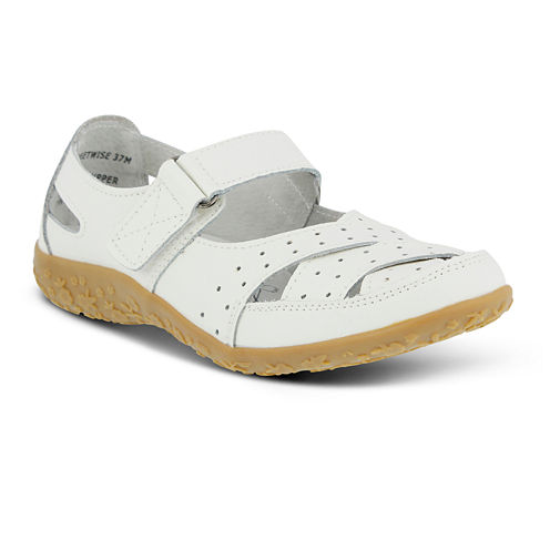 Spring Step Streetwise Mary Jane Strap Shoes - Wide Width