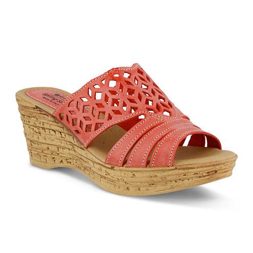 Spring Step Vino Slide Wedge Sandals
