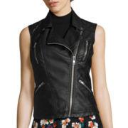 Decree® Pleather Moto Vest