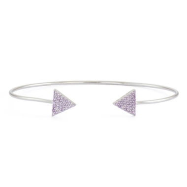 jcpenney.com | Simulated Amethyst Sterling Silver Pave Arrow Bangle Bracelet