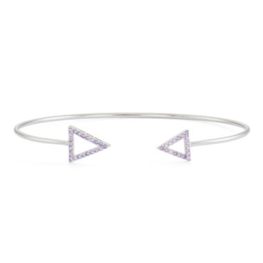jcpenney.com | Simulated Amethyst Sterling Silver Open Arrow Bangle Bracelet
