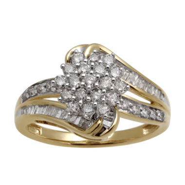 jcpenney.com | 3/4 CT. T.W. White Diamond 10K Gold Cocktail Ring