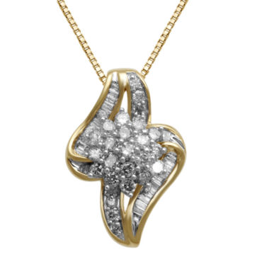 jcpenney.com | 3/4 CT. T.W. Diamond In 10K Yellow Gold Pendant Necklace