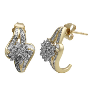 jcpenney.com | 3/4 CT. T.W. Diamond In 10K Yellow Gold Earring