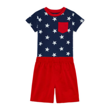 jcpenney.com | Okie Dokie® Short-Sleeve Tee or Basic Shorts - Baby Boys newborn-24m