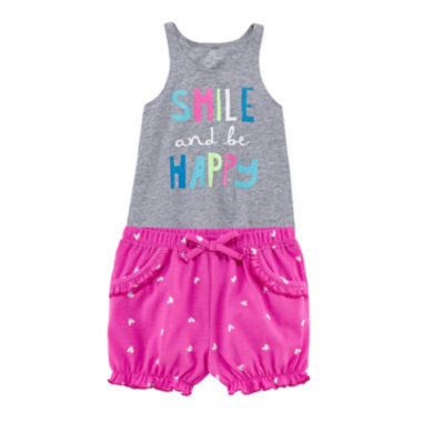 jcpenney.com | Okie Dokie® Graphic Tank Top or Bubble Shorts - Baby Girls newborn-24m