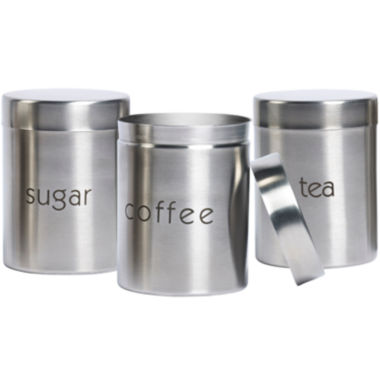 jcpenney.com | Basic Essentials® 3-pc. Stainless Steel Canister Set