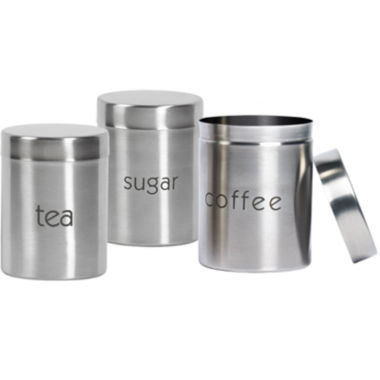 jcpenney.com | Bella® 3-pc. Stainless Steel Canister Set
