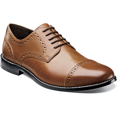 Nunn Bush® Norcross Mens Cap-Toe Oxfords