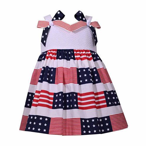 Bonnie Jean Sleeveless Pattern A-Line Dress - Baby Girls