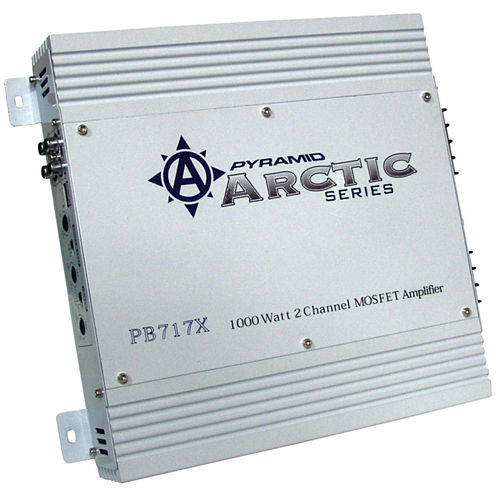 Pyramid Car Audio PB717X Arctic Series 2-Channel Bridgeable Class AB Amp (1;000 Watts)