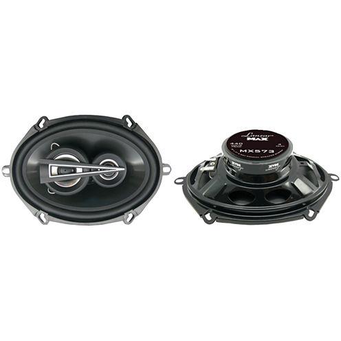 Lanzar Car Audio MX573 MAX Series 3-Way Triaxial Speakers (5IN x 7IN; 440 Watts)