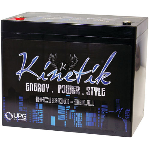 Kinetik 40926 HC BLU Series Battery (HC1800; 1;800Watts; 75 Amp-Hour Capacity; 12 Volts)