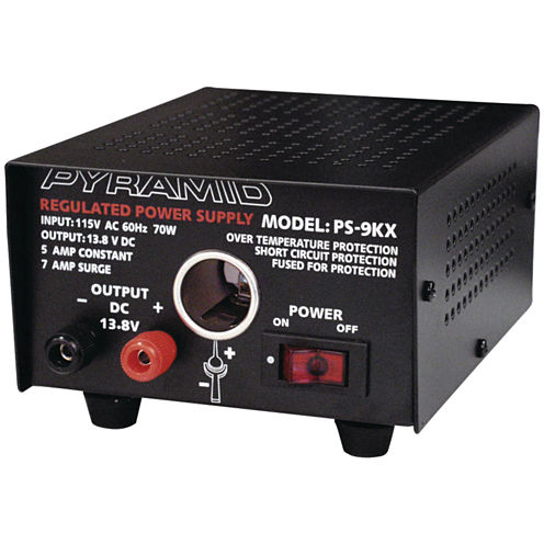 Pyramid Car Audio PS9KX Power Supply (70 Watts Input; 5 Amps Constant)
