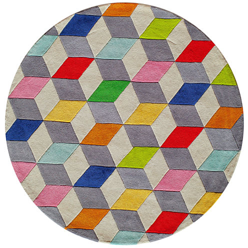 Momeni Lil Mo Blocks Hand Tufted Round Rugs