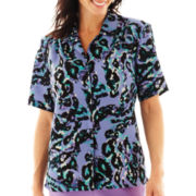 Cabin Creek® Short-Sleeve Print Blouse - Petite