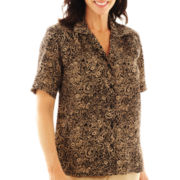 Cabin Creek® Short-Sleeve Print Blouse