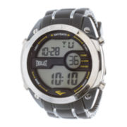 Everlast® Mens Gray Silicone Strap Watch