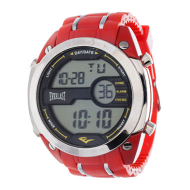 jcpenney.com | Everlast® Mens Red Silicone Strap Watch