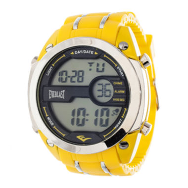 jcpenney.com | Everlast® Mens Yellow Silicone Strap Watch