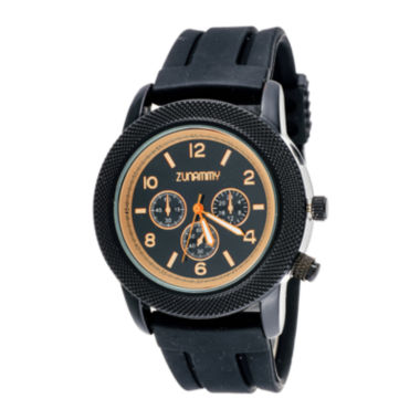 jcpenney.com | Zunammy® Mens Black Silicone Strap Watch